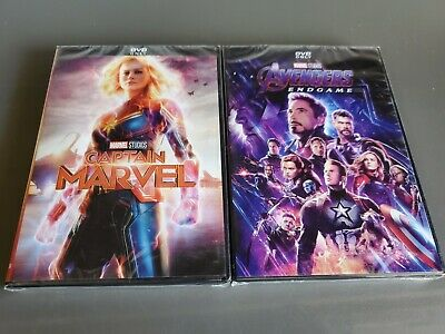 Avengers End Game and Captain Marvel DVD Bundle Brand New!