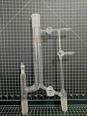 Lab Glass Inc 24/40 29/42 Pyrex Vacuum Distillation Head Receiver condenser ace