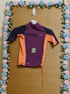 Lovely Girls new decathlon Swimming top Age 7-8 Years