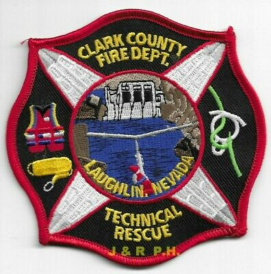 """*NEW*  Clark County Techical Rescue, Laughlin, Nevada (4"""" x 4"""" size) fire patch"""