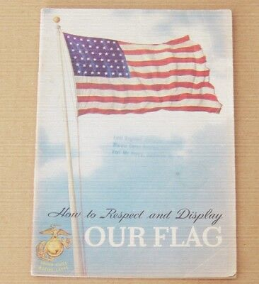 1954 Marine Corp Reserve Training Center Fort McHenry Flag display book