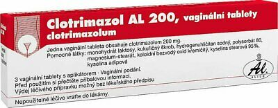 Clotrimazol Vaginal Tablet Pessary 3 x 200 mg with Applicator