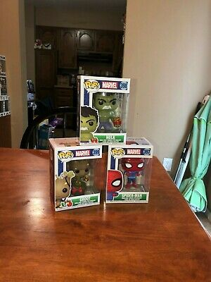 Funko Pop! 2018 Marvel Holiday 3 Pop Lot