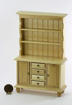 Dollhouse Miniature 1:12 Scale Buffet Cabinet or Hutch in Light Wood