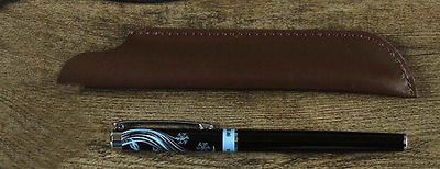 fountain pen storage bag Genuine cow Leather Customize handmade case brown z169-