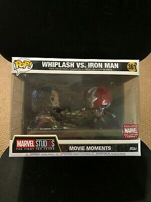 Funko Pop! Marvel Collectors Corps Movie Moments Whiplash vs Iron Man