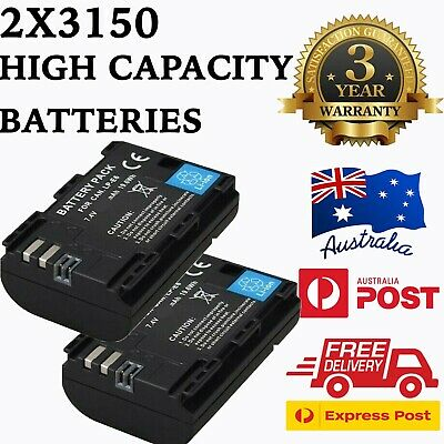 3150mAh Battery x 2 and Dual USB Charger for Canon LP-E6, LP-E6N