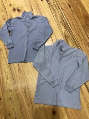 Scags School Polo Shirts Grey Long Sleeved Boys Size 12 x 2