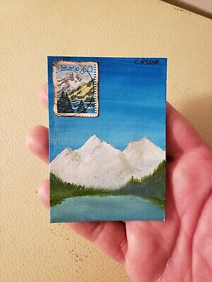 ACEO - Original Art Card.  Signed-dated on back.  Title: Helvetia 1