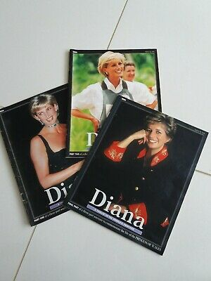 Diana Tribute To The People's Princess x 3 Collection Sunday Mirror supplement