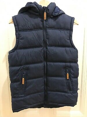 Padded Puffer Zip Vest Navy Bauhaus Brand Boys Size 14 Excellent Condition AsNew