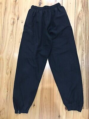 Canterbury Stadium Pants Kids Black Size 14 Yrs Fully Lined Full Zipper DownLegs
