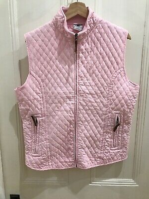 Vest Light Pink Lightly Padded Zip Front Ladies Size L Excellent Condition AsNew