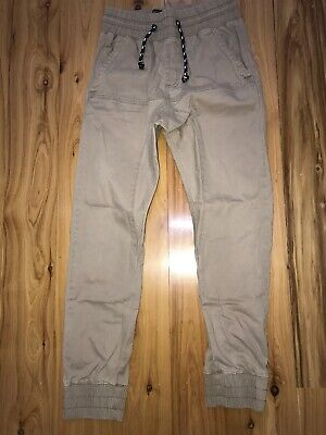 Long Pants Tapered Cuff Factorie Brand Mens/Teen Size XS Stone Colour As New