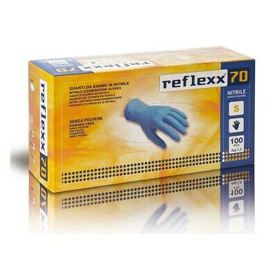 Gloves Nitrile Disposable Reflex70 without Dust 100 Pz Lab Cleanliness