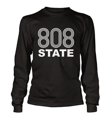808 State T Shirt Acid House Manchester Rave 90s Long Sleeved Unisex  All Sizes