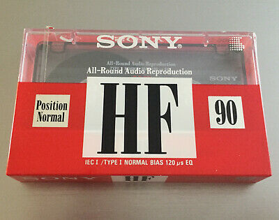 Sony C-90HF Normal Position Blank Cassette Tape SEALED