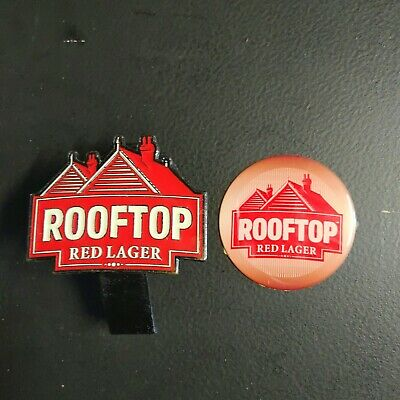 Rare. Matilda Bay Rooftop Red Lager Tap Badge and Sticker. Discontinued Brand.