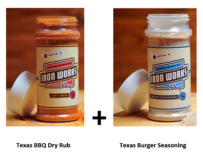 Iron Works BBQ Dry Rub & Burger Seasoning Combo - Only from SIR BBQ