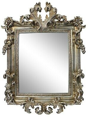 Extra Large Ornate Antique Venetian Wall Mirror 81cm x 106cm Intricate Leaf