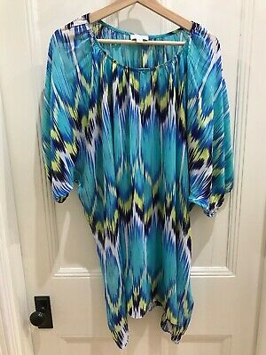 Witchery Sheer Loose Kaftan/Dress/Top Ladies Size States S/M But Would Fit L/XL