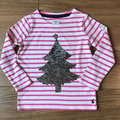 Joules Girls 'Christmas' Harbour Top Age 5