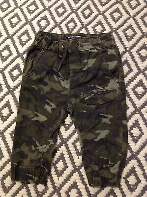Next baby boys moro camouflage trousers 6-9 mths