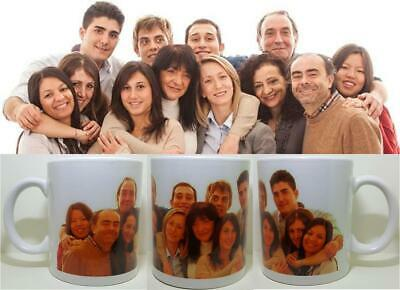 PHOTO 1 Picture Collage Wrap Personalised Mug Gift Cup Birthday Present LOVE