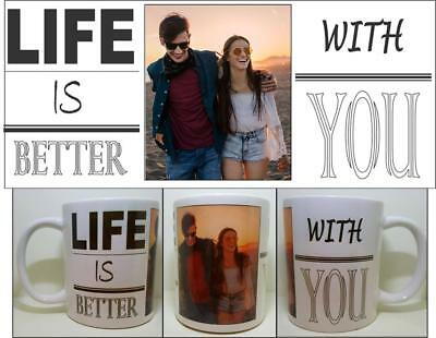 Personalised 5 Photo Picture Collage Mug Cup Gift Birthday