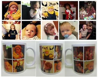 PHOTO 10 Picture Collage Personalised Mug Gift Cup Birthday Present LOVE