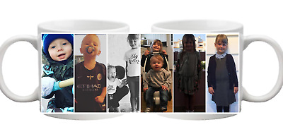 PHOTO 6 Picture Collage Personalised Mug Gift Cup Birthday Present