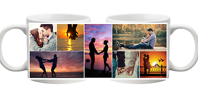 PHOTO 7 Picture Collage Personalised Mug Gift Cup Birthday Present