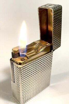 Accendino lighter Dupont argento punta di diamante