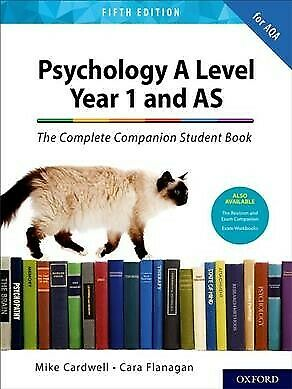 Aqa As Level/year 1 Complete Companion, Brand New, Free P&P in the UK