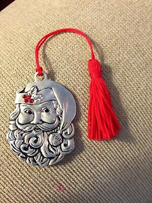 Avon Pewter Santa Ornament for Christmas 2012 Signed Avon Collectible New Boxed