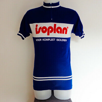 Maillot cycliste vintage équipe ISOPLAN, cycling shirt - Années 70/80, taille 4