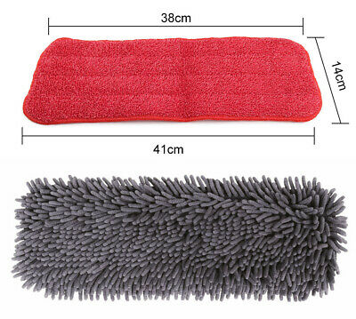 Microfibre Mop Pad Reusable Replacement Set Chenille pad plus wet cleaning Pad