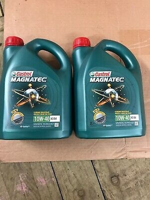 2 x 2L Castrol MAGNATEC Engine Oil 10W-40 A3/B4 = 4L Green Petrol Or Diesel
