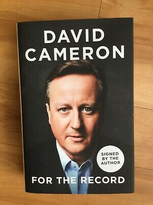 David Cameron's Book. For the Record. Signed Copy. Limited Edition. New.