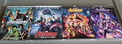 Avengers 4 Movie Bundle Avengers, Age of Ultron, Infinity War, End Game DVD!