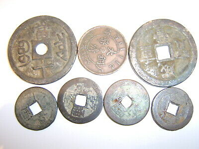 Collection Of Antique Chinese Bronze Coin