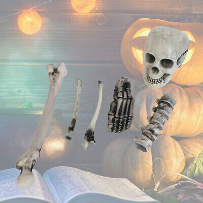 12PCS Skeleton Bones Halloween Fake Bones Skull Prop for Halloween Haunted House