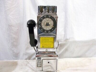 Rather Original Unusual Old Dated 1969 Chrome Northern Electric 3-Slot Payphone