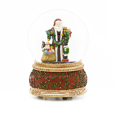 Santa Claus With Toys Snow Globe