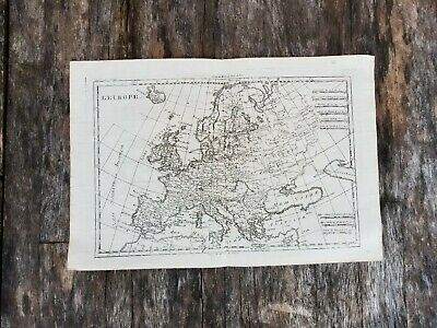 EUROPE 1780 by Rigobert Bonne ANTIQUE COPPER ENGRAVED MAP 18th Century French