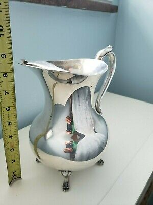 "8.5"" Silverplated Sheffield Silver Company Footed Pitcher with Ice Guard"