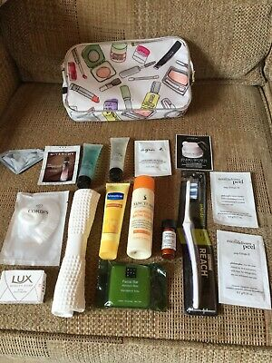 Clinique toiletry bag complete with mini toiletries, bag needs cleaning!
