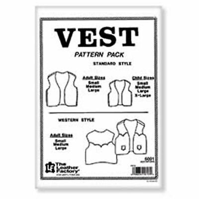 Vest Pattern Pack Adult Child New 6001-00 Tandy Leather