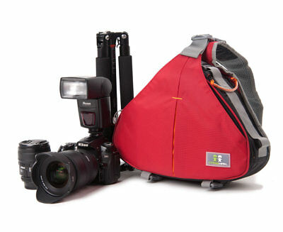 Caseman AOS1 DSLR Red Camera Bag Triangle durable Shoulder Case for Canon Nikon
