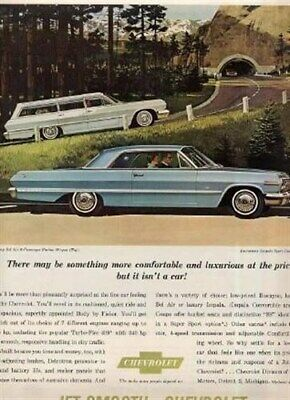 1963 Chevrolet Impala Ad Sport Coupe & Station Wagon